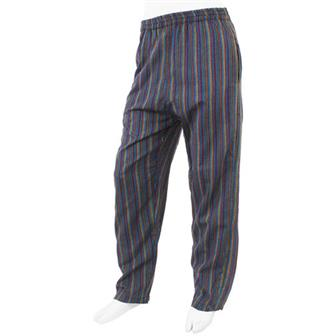 Stripy Cotton Trousers - Asterope Blue