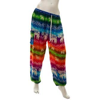 Drawstring Rainbow Elephant Trousers