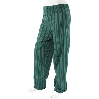 Stripy Cotton Trousers - Azul Green