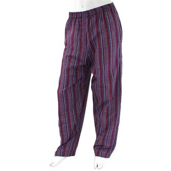 Stripy Cotton Trousers - Deep Mix