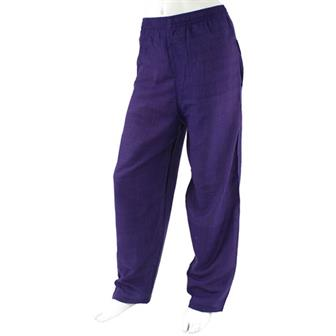 Stripy Cotton Trousers - Violet Stripe
