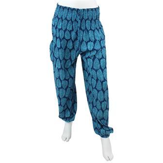 Leaf Print Harem Trousers
