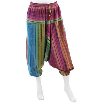 Stripe Patch Ali Baba Trousers