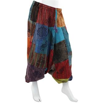 Patch Block Print Ali Baba Trousers