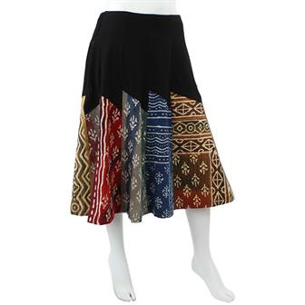 Long Panel Skirt