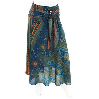 Peacock Print Coco Buckle Skirt
