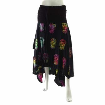 Black Candy Skull Pixie Skirt