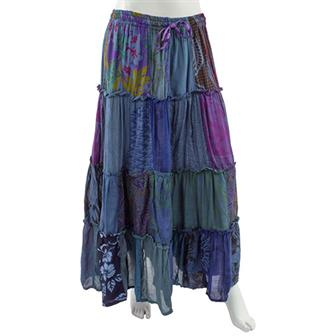 Overdyed Patchwork Skirt