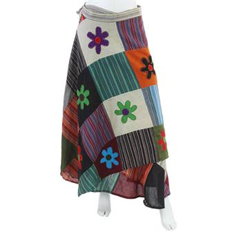 Flower Patch Gypsy Wrap Skirt