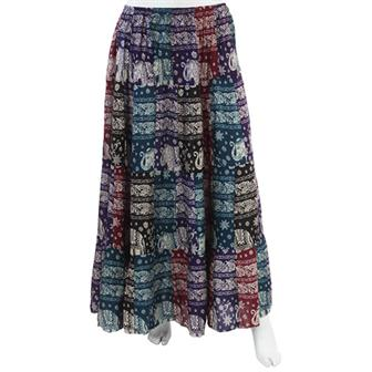 Elephant Print Patch Skirt