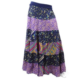 High Waist Layered Silk Skirt