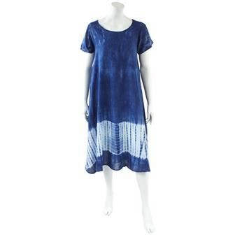 Indigo Tie Dye Dress