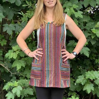 Thai Weave Dungaree Dress