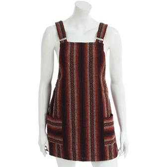 Larger Thai Weave Dungaree Dress
