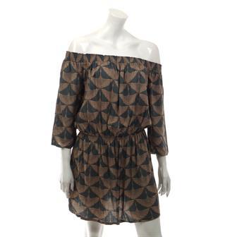 Heron Print Mini Dress