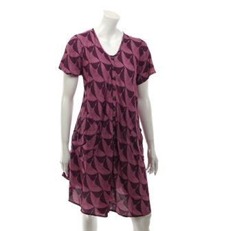 Heron Print Button Dress