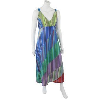 Seersucker Diagonal Dress