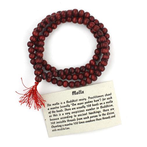 Mallah Mala Beads Buddhist prayer beads - Fair Trade from Siesta