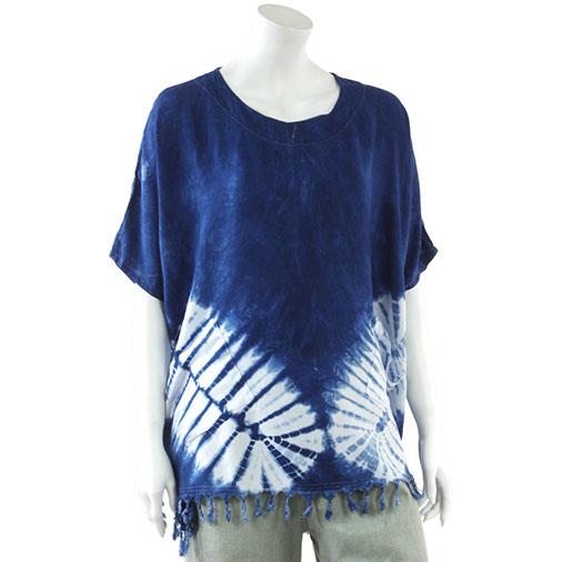 Indigo Tie Dye Pocket Top