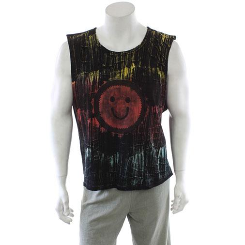Smiley Brush Dyed Vest