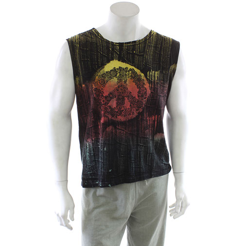 Peace Brush Dyed Vest