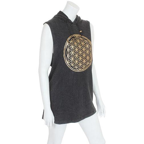 Flower of Life Hooded Vest