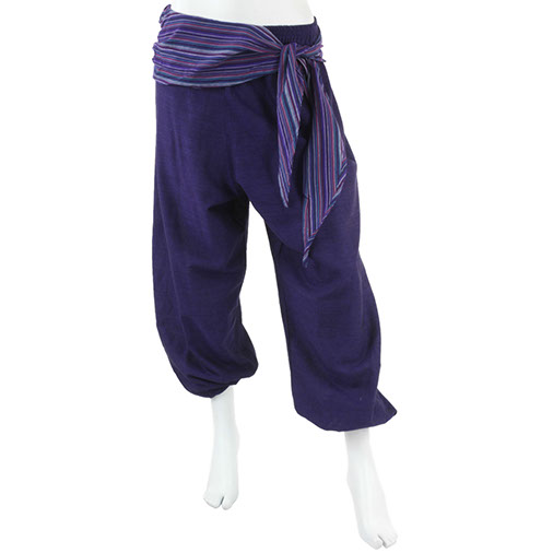 Sash Belt Harem Trousers