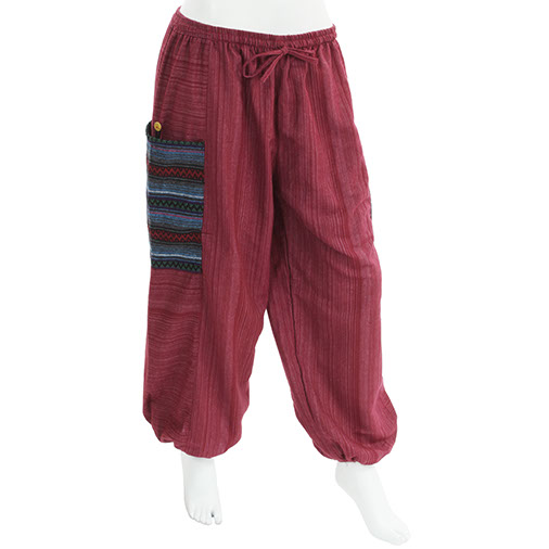 Thai Weave Pocket Harem Trousers