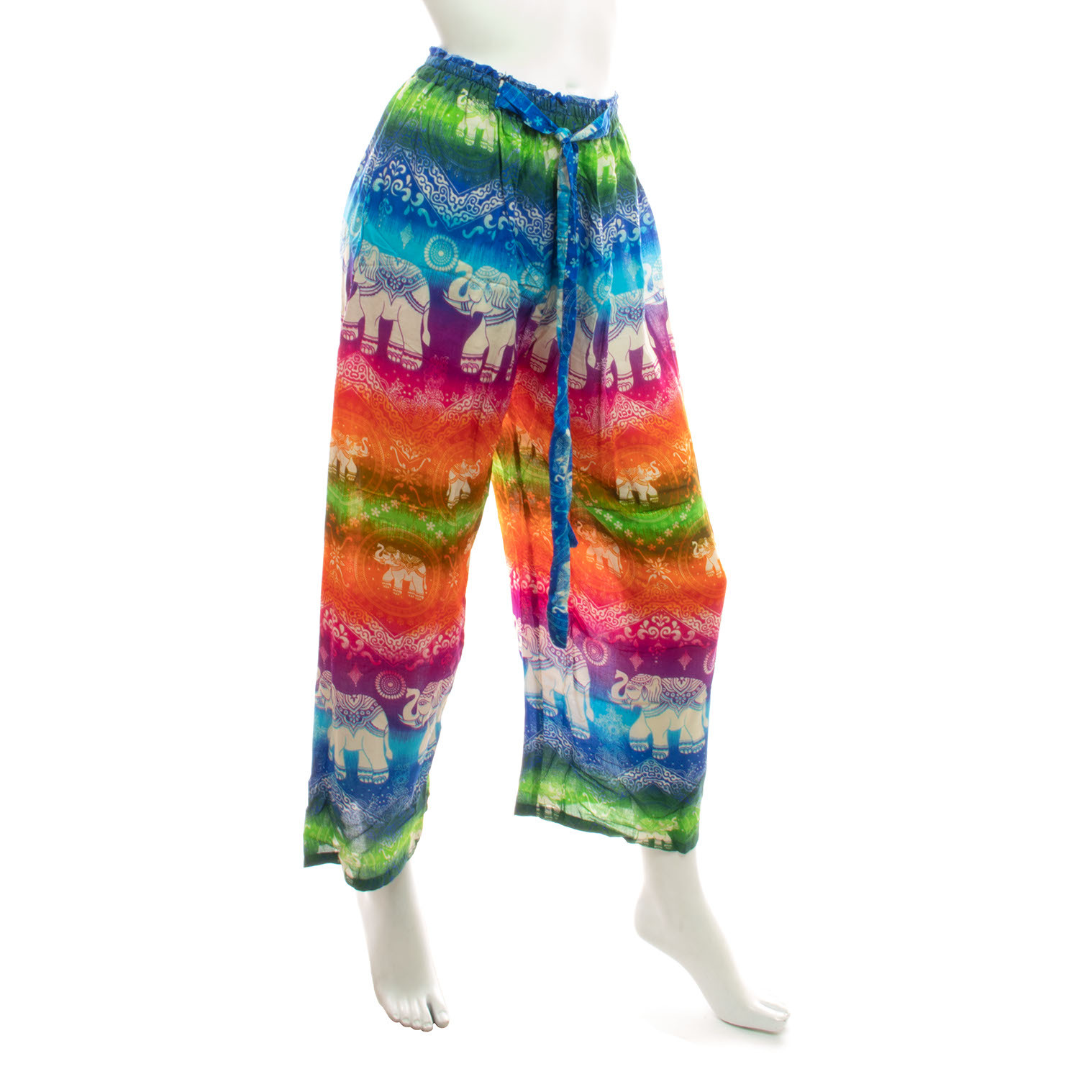 High-Rise Rainbow Elephant Trousers