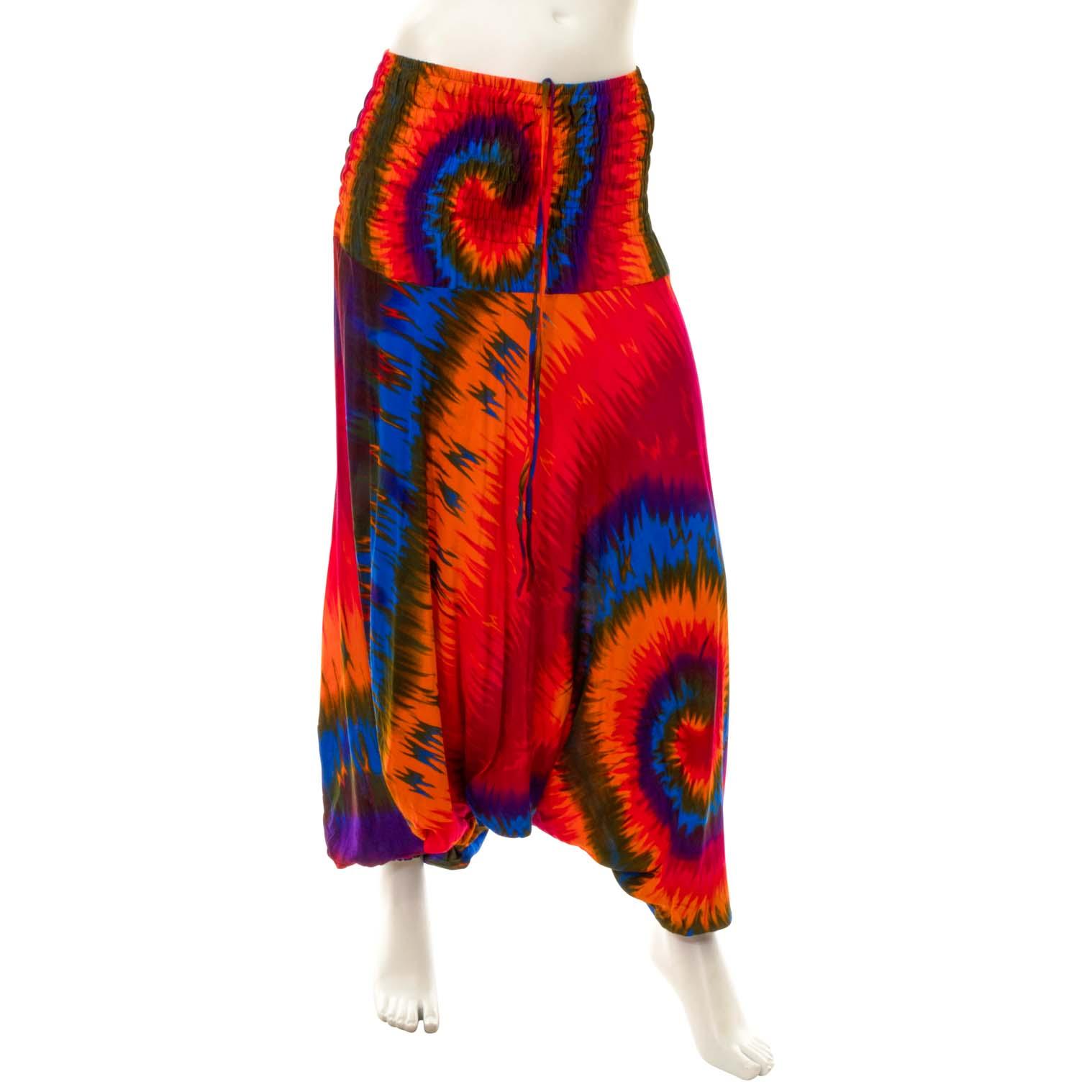 Swirl Tie Dye Ali Baba Trousers
