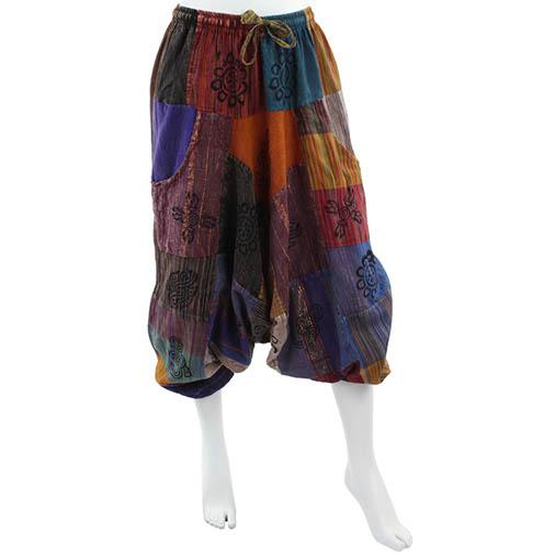 Patch Block Print Ali Baba Trousers