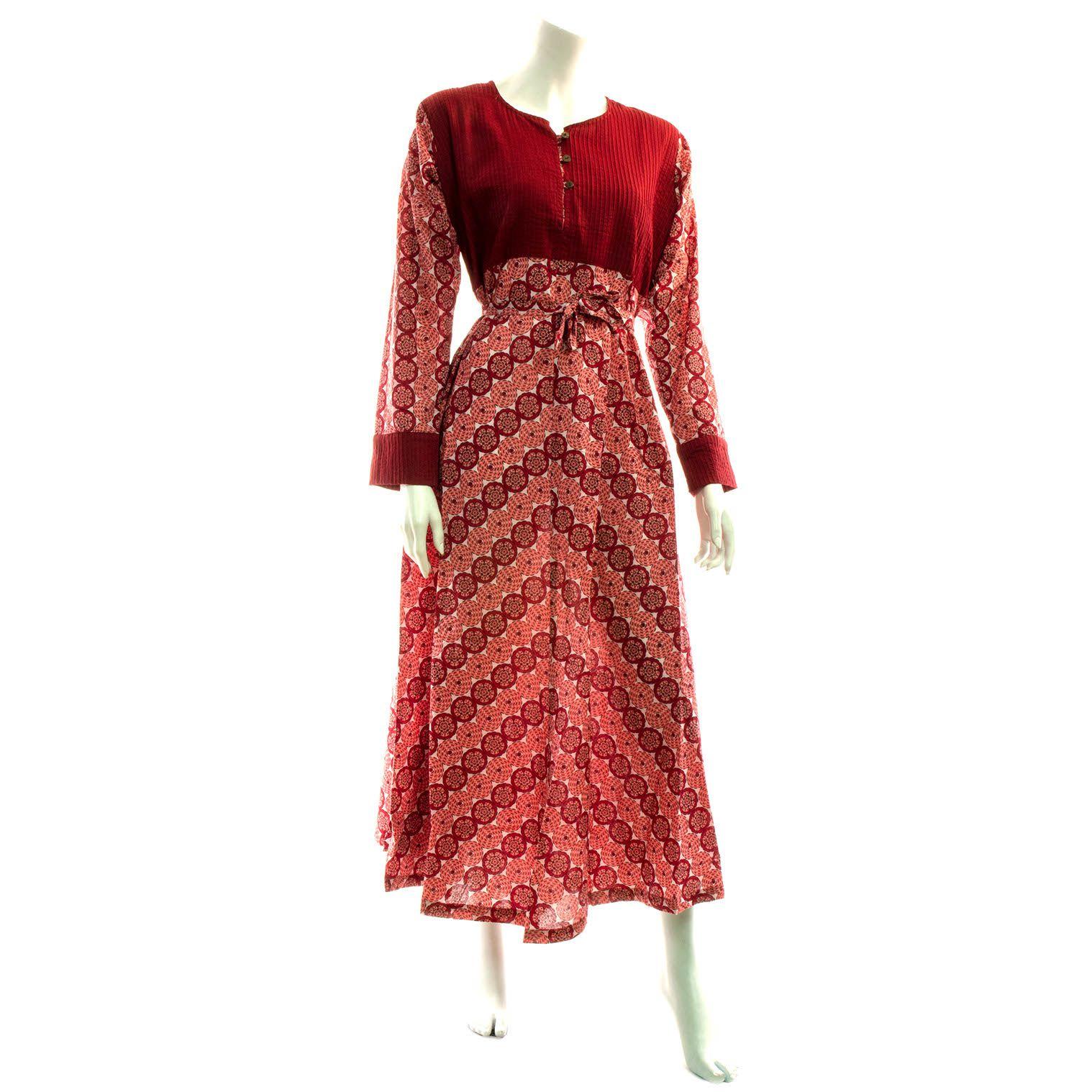 Cuffed Long Panel Dress