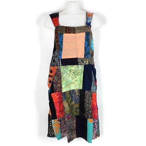 Patchwork Dungaree Dress
