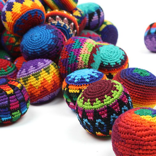 Fair Trade Crochet Haki Sacks Hacky Juggling Balls From Guatema